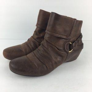"""BareTraps """"Sana"""" Short Brown Boots"""